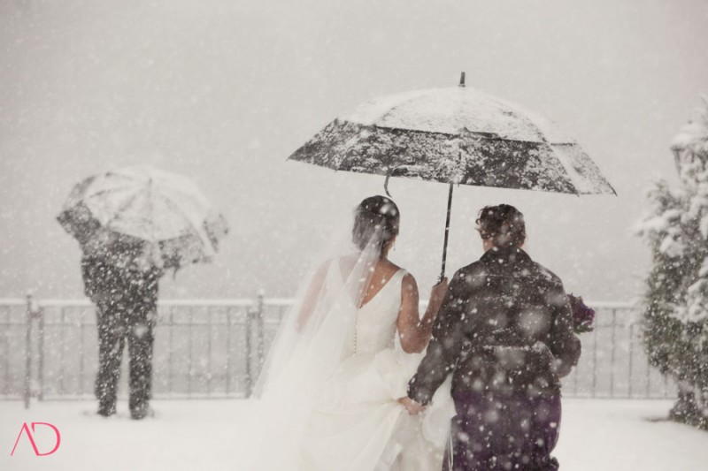 Svatba ve sněhové vánici, zdroj: Alissa Dinneen