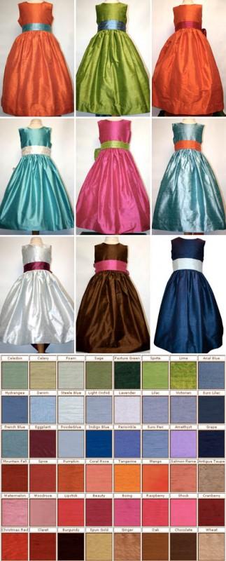 Použití barev na družičkovských šatech...