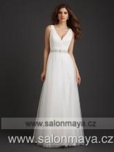 VÝPRODEJ 9900 Kč - Šaty antického typu na ramínka v barvě ivory značky  Allure Bridals 16a361146c