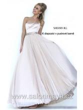 8e1afb79a05 VÝPRODEJ 4500 Kč - Korzetové šaty v barvě blush (růžové)
