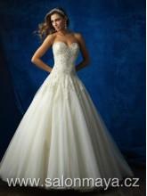 0277658ce18 Korzetové šaty v barvě ivory s bohatou tylovou sukní