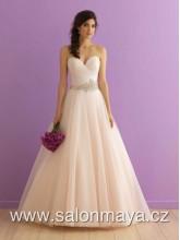 ebff3c84a3b Světle růžové korzetové šaty s bohatou tylovou sukní